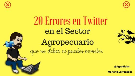 20 Errores en Twitter