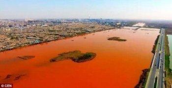 Imágenes de contaminación de suelo