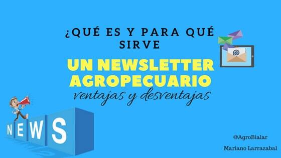 newsletter agropecuario