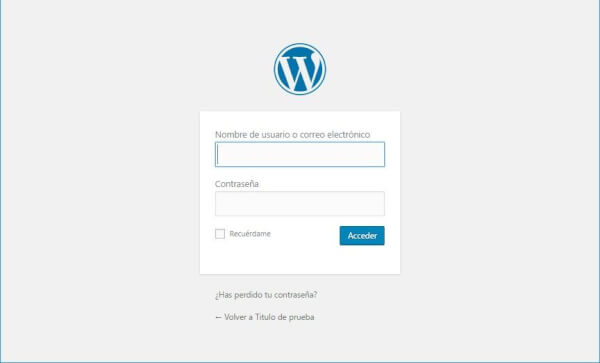 rear una pagina web en wordpress