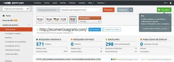 semrush-trafico web