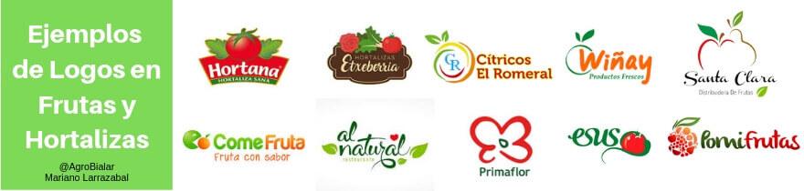 Ejemplos de logos en frutas y Hortalizas