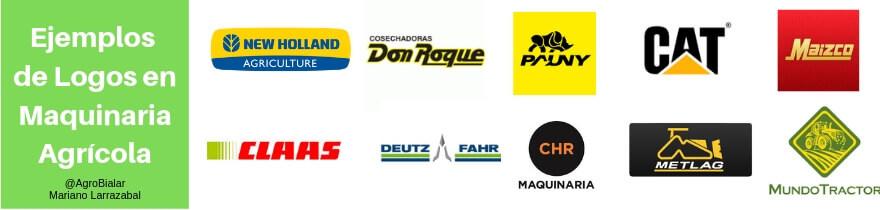 Ejemplos de logos en maquinaria agrícola