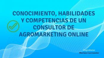 Conocimiento, Habilidades y Competencias de un Consultor de Agromarketing Online