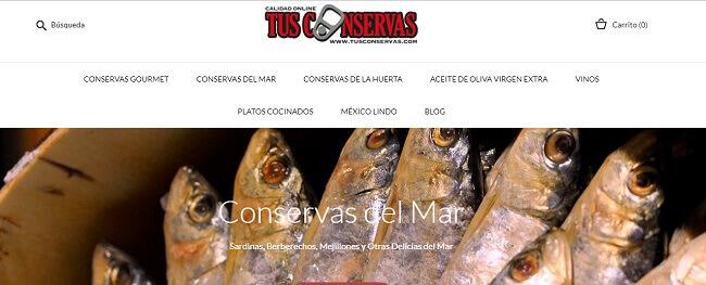 Conservas Gourmet online. Tienda Gourmet. Tus Conservas