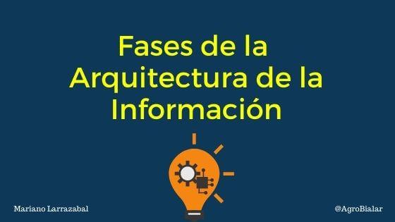 Fases de la Arquitectura de la Información