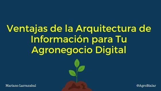 Ventajas de la arquitectura de información para tu agronegocio digital