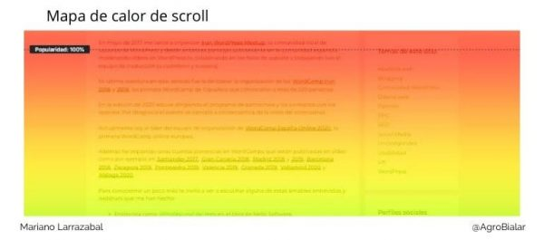 Mapas de calor de scroll
